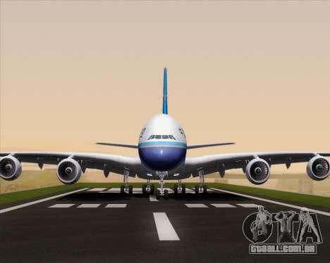 Airbus A380-841 China Southern Airlines para vista lateral GTA San Andreas