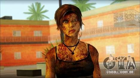 Tomb Raider Skin 13 2013 para GTA San Andreas terceira tela
