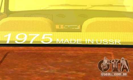 VAZ 2101-Rato olhar para GTA San Andreas vista traseira