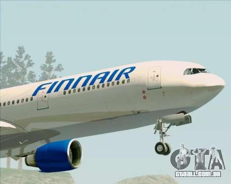 Airbus A330-300 Finnair (Old Livery) para vista lateral GTA San Andreas