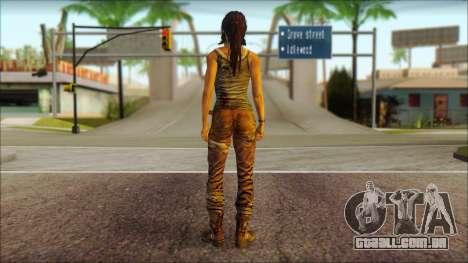 Tomb Raider Skin 8 2013 para GTA San Andreas segunda tela