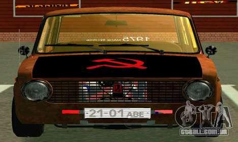 VAZ 2101-Rato olhar para GTA San Andreas vista interior