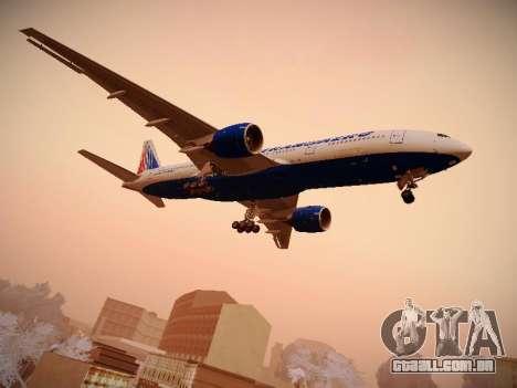 Boeing 777-212ER Transaero Airlines para GTA San Andreas vista direita