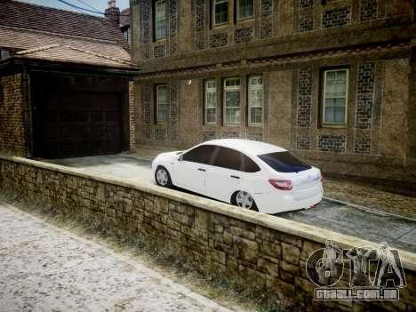 Lada Granta Liftback para GTA 4 traseira esquerda vista