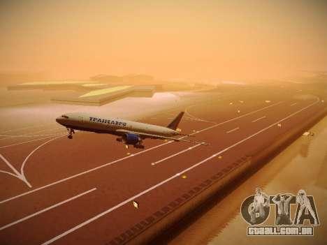 Boeing 777-212ER Transaero Airlines para GTA San Andreas vista superior
