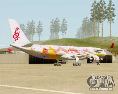 Airbus A330-300 Dragonair (20th Year Livery) para GTA San Andreas vista direita