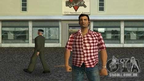 Kockas polo - piros T-Shirt para GTA Vice City terceira tela