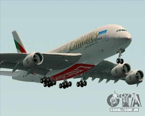 Airbus A380-841 Emirates para GTA San Andreas vista traseira
