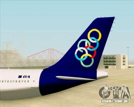 Airbus A330-300 Olympic Airlines para GTA San Andreas vista inferior