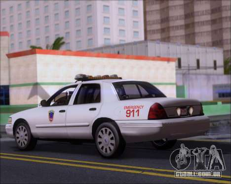 Ford Crown Victoria Tallmadge Battalion Chief 2 para GTA San Andreas traseira esquerda vista