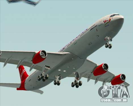Airbus A340-313 Virgin Atlantic Airways para GTA San Andreas vista traseira