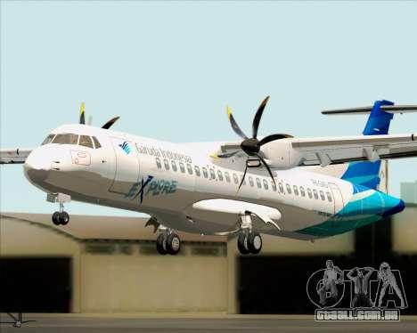 ATR 72-500 Garuda Indonesia Explore para GTA San Andreas vista traseira