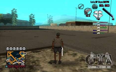 C-HUD by SampHack v.13 para GTA San Andreas terceira tela