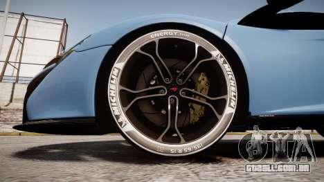 McLaren 650S Spider 2014 [EPM] Michelin v3 para GTA 4 vista de volta