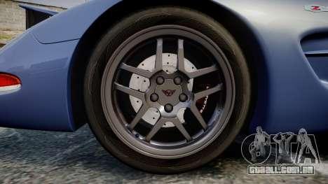 Chevrolet Corvette Z06 (C5) 2002 v2.0 para GTA 4 vista de volta