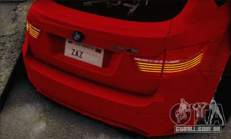 BMW X6M 2013 v3.0 para GTA San Andreas vista direita