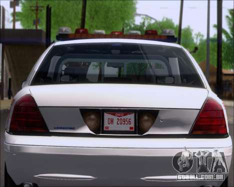 Ford Crown Victoria Tallmadge Battalion Chief 2 para GTA San Andreas vista interior