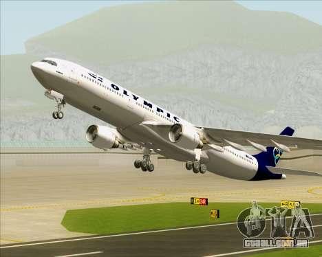 Airbus A330-300 Olympic Airlines para as rodas de GTA San Andreas