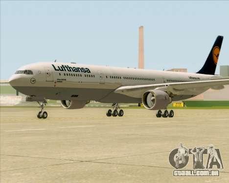 Airbus A330-300 Lufthansa para GTA San Andreas esquerda vista