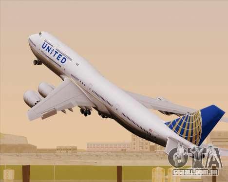 Boeing 747-8 Intercontinental United Airlines para GTA San Andreas