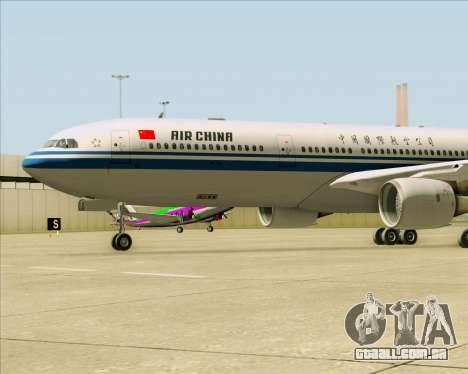 Airbus A330-300 Air China para vista lateral GTA San Andreas