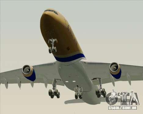 Airbus A340-313 Gulf Air para GTA San Andreas vista inferior
