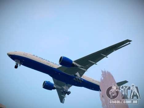 Boeing 777-212ER Transaero Airlines para GTA San Andreas traseira esquerda vista
