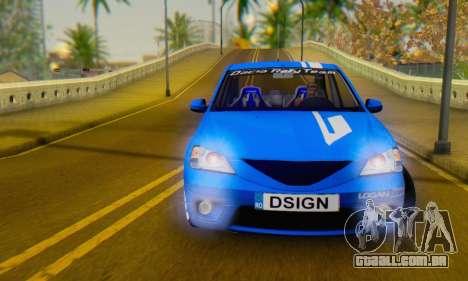 Dacia Logan Tuning Rally (B 48 CUP) para GTA San Andreas vista traseira
