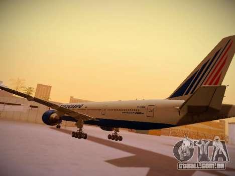 Boeing 777-212ER Transaero Airlines para GTA San Andreas vista traseira