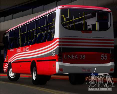 Neobus Spectrum Linea 38 Mcal. Lopez para as rodas de GTA San Andreas