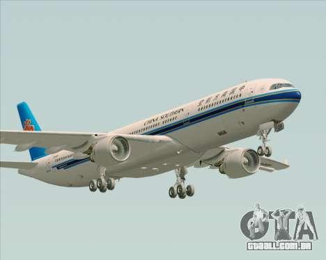 Airbus A330-300 China Southern Airlines para GTA San Andreas vista inferior