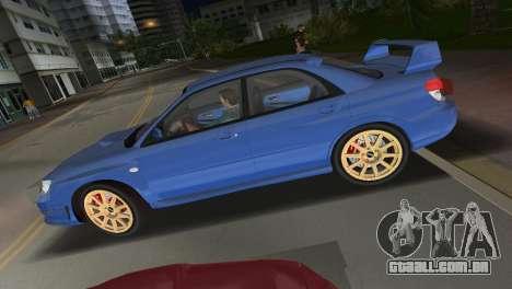 Subaru Impreza WRX STI 2006 Type 1 para GTA Vice City vista direita