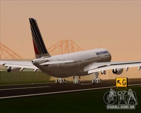 Airbus A340-313 Air France (Old Livery) para as rodas de GTA San Andreas