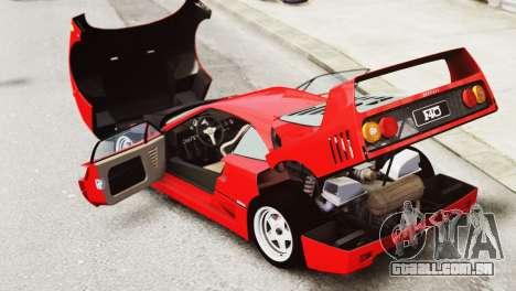 Ferrari F40 1987 para GTA 4 vista interior