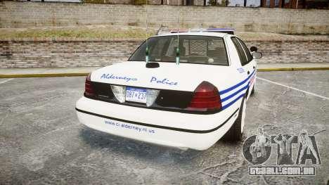 Ford Crown Victoria Alderney Police [ELS] para GTA 4 traseira esquerda vista