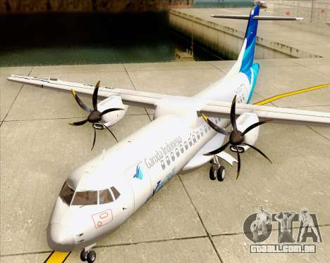 ATR 72-500 Garuda Indonesia Explore para GTA San Andreas vista interior