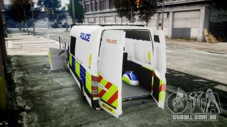 Mercedes-Benz Sprinter Police 2014 para GTA 4 vista direita