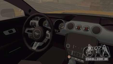 Ford Mustang GT 2015 para GTA San Andreas traseira esquerda vista