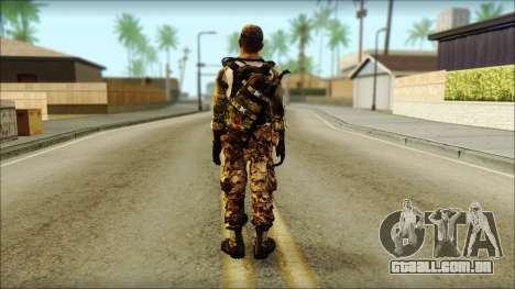 Taliban Resurrection Skin from COD 5 para GTA San Andreas segunda tela