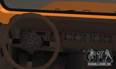 Jeep Wrangler para GTA San Andreas traseira esquerda vista