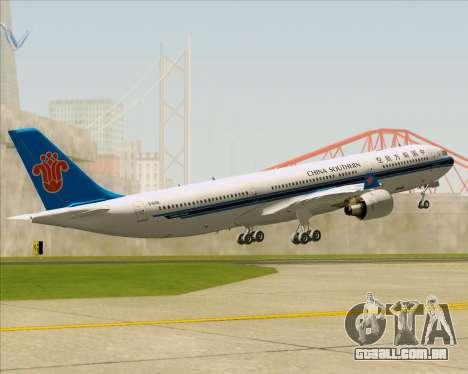 Airbus A330-300 China Southern Airlines para o motor de GTA San Andreas