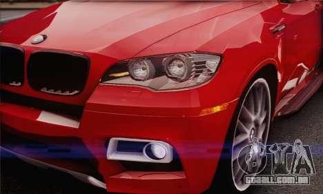 BMW X6M 2013 v3.0 para GTA San Andreas vista interior