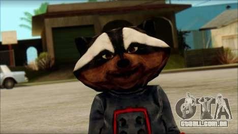 Guardians of the Galaxy Rocket Raccoon v1 para GTA San Andreas terceira tela