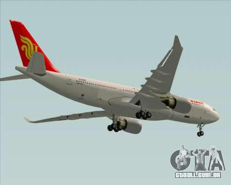 Airbus A330-200 Air China para GTA San Andreas vista superior