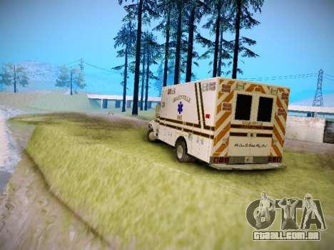 Pierce Commercial Grasonville Ambulance para GTA San Andreas vista direita