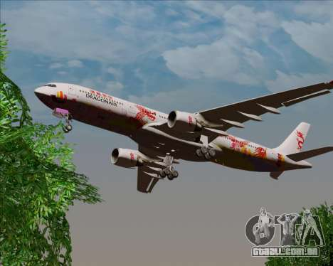 Airbus A330-300 Dragonair (20th Year Livery) para GTA San Andreas vista traseira