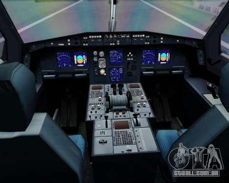 Airbus A340-313 Lufthansa para GTA San Andreas interior