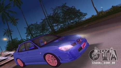 Subaru Impreza WRX STI 2006 Type 4 para GTA Vice City deixou vista