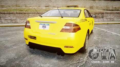 GTA V Vapid Taurus Taxi NYC para GTA 4 traseira esquerda vista