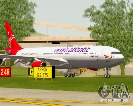 Airbus A340-313 Virgin Atlantic Airways para o motor de GTA San Andreas